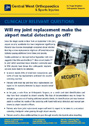 Will my joint replacement make the airport metal detectors go off? – Dr. Roger Brighton - Hip & Knee Surgeon
